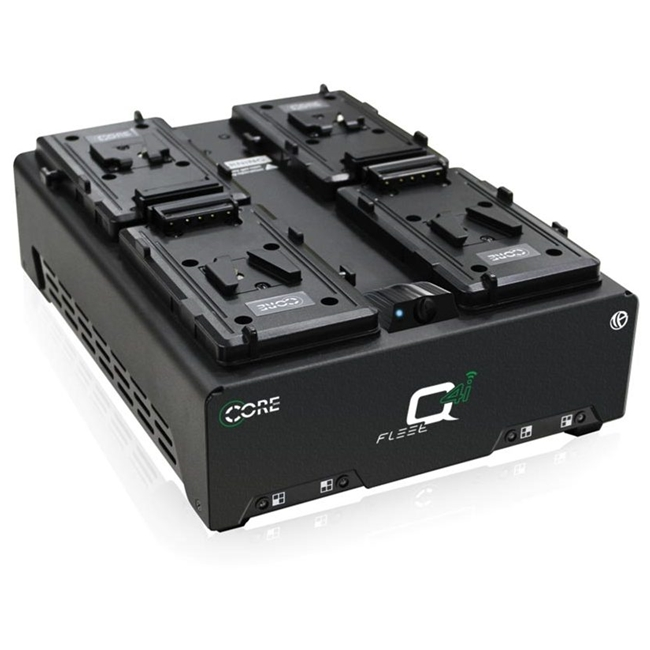 CoreSWX Four Position V-mt Fast Simultaneous Li-Ion Charger with Voltbridge Bluetooth Technology