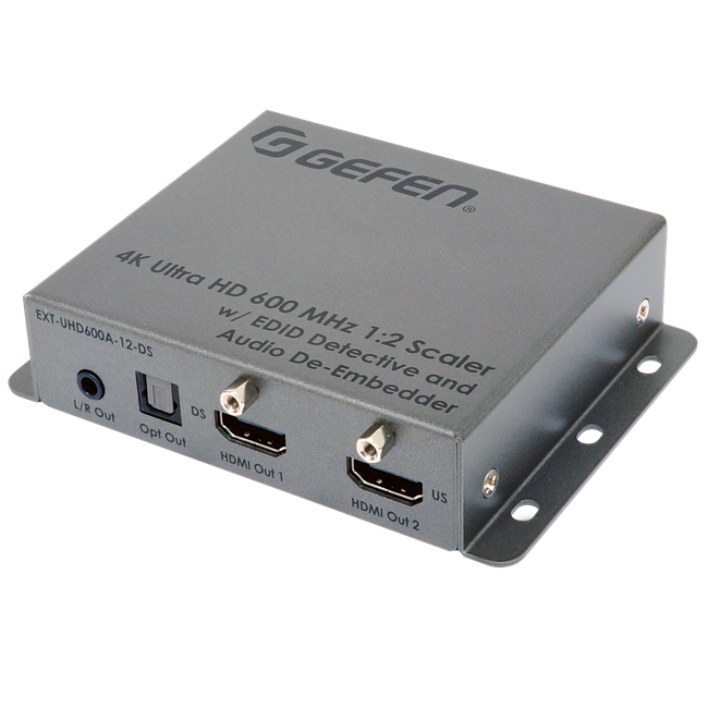 Gefen: 4K Ultra HD 600 MHz 1:2 Scaler w/ EDID Detective and Audio De-Embedder