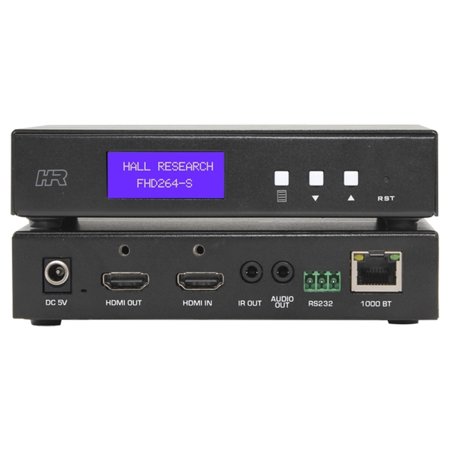 Hall Research: AV and control over IP Sender with Loop output, Audio, RS232 over IP & IR