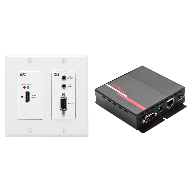 Hall Research: UHBX-WPC-P2 HDMI over UTP Extender with HDBaseT and PoH (Wall Plate Sender + Receiver )