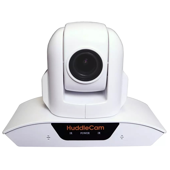 Huddlecam: PTZ Camera 10X Optical Zoom | Dual Microphone Array | USB 2.0 | 1080p | 57 degree FOV Lens (White)