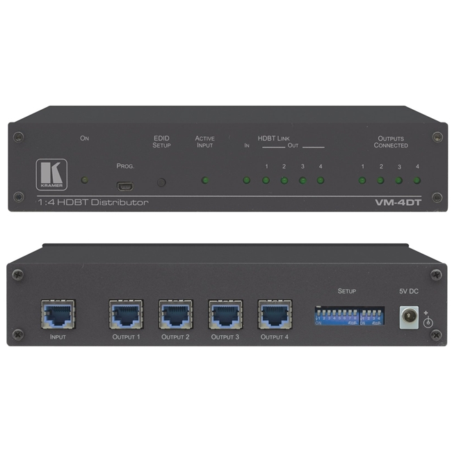 Kramer: VM-4DT 4K 60Hz 1: 4 HDBaseT Distribution Amplifier