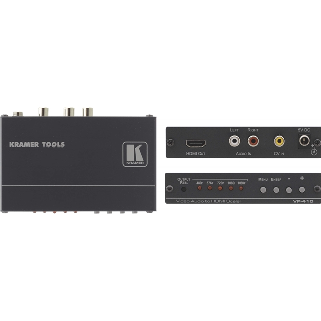 Kramer: VP-410 Composite Video and Stereo Audio to HDMI Scaler