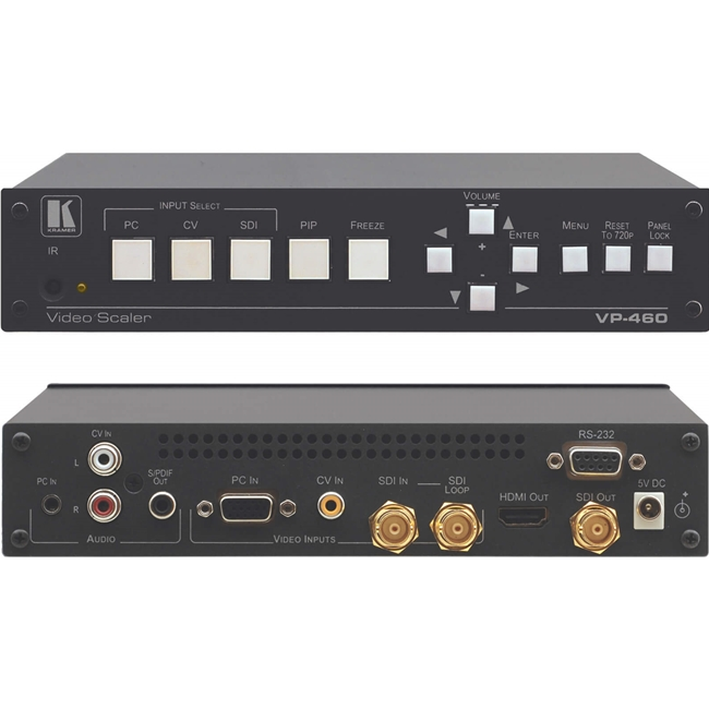 Kramer VP-460: 3-Input Analog & 3G HD-SDI ProScale™ Presentation Switcher/Scaler