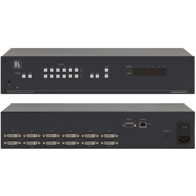 Buy kramer vs 66hdcpxl 6x6 hdcp compliant dvi matrix switcher publicscrutiny Gallery