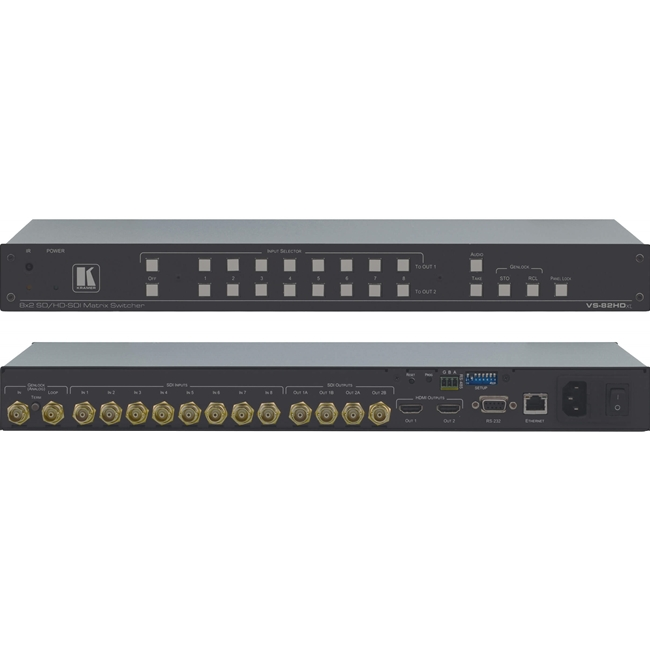 Kramer VS-82HDXL: 8x2 3G HD/SDI Matrix with clean switch