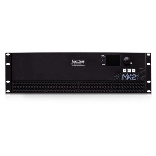 Lightware: MX2-16X16-HDMI2.0-Audio-R 16x16 4K HDMI 2.0 and HDCP 2.2 Matrix with Audio Embedding