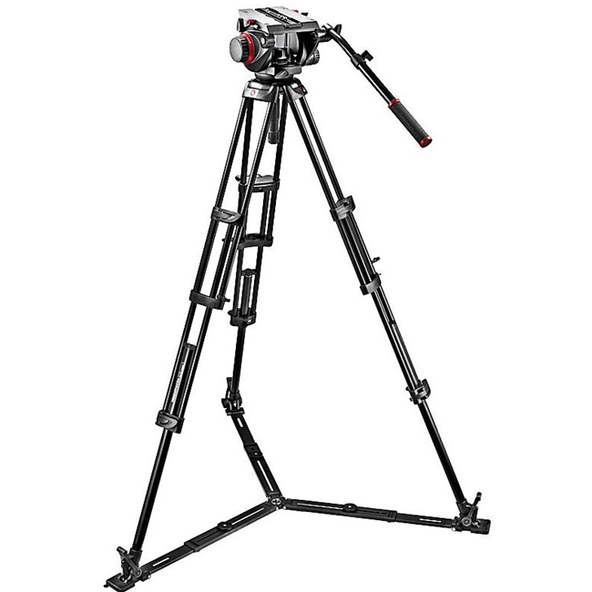 Manfrotto: MAN-509HD+545GBK 509HD Video Head & 545GB Aluminum Tripod Pro Ground-Twin Kit 100