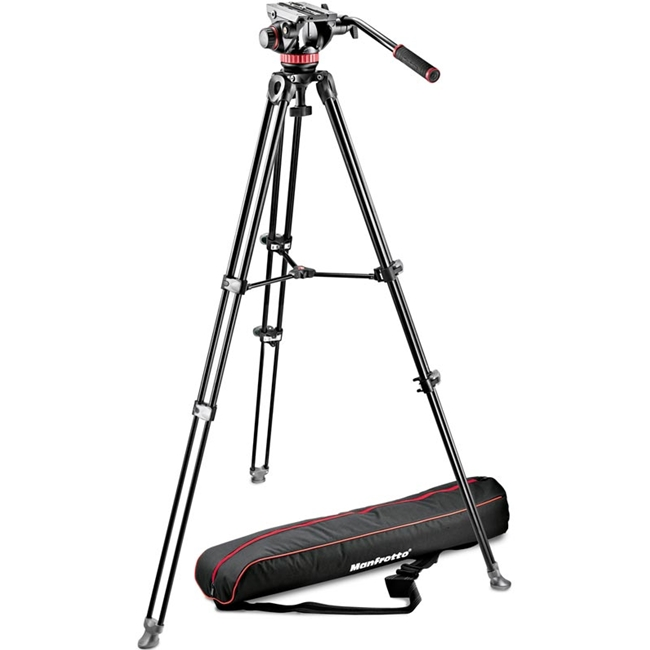 Manfrotto: MAN-MVK502AM-1 Telescopic Twin Leg Tripod | Video Head