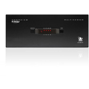 AdderView Pro MultiScreen: 4 port - USB 2.0, Quad Head DVI KVMA Switch