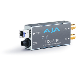 AJA: FiDO-R-SC Single ch. SC Fiber to SDI Converter