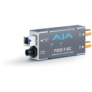 AJA: FIDO-T-SC Single ch. SC Fiber to SDI Converter