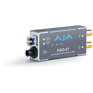 AJA: FiDO-R Single ch. Fiber to SDI converter with dual SDI o/ps