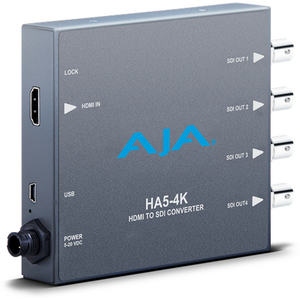 AJA: HA5-4K 4K HDMI to 4K 4 x 3G-SDI, also supports HD-HDMI to HD SDI