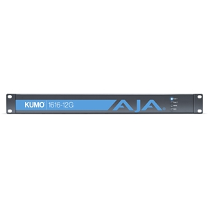 AJA: Kumo 16x16 Compact 12G-SDI Router, with 1 power supply