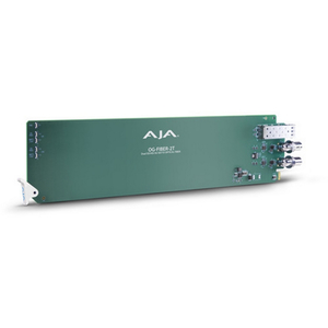 AJA: OG-FIBER-2T-X openGear 2-channel SDI to LC Fiber (CWDM) - Requires 2 slots in frame