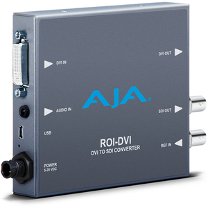 AJA: ROI-DVI DVI/HDMI to SDI Region of Interest scaling and DVI loop through