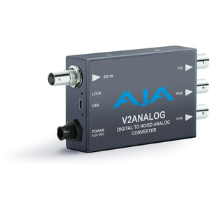 AJA: V2ANALOG Digital video to analog, HD/SD Mini-Converter