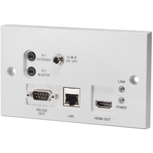 CYP: PU-607BDWP-RX 4K HDMI over 1x CAT5e/6/7 HDBaseT Wall Plate Receiver