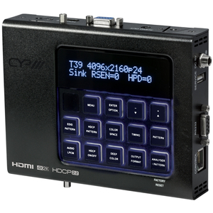 CYP: XA-4 Advanced HDMI Pattern Generator & Analyser (4K, HDCP2.2, HDMI2.0)