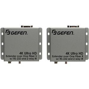 Gefen: 4K Ultra HD Extender over One Fiber w/ RS-232 and 2-way IR Kit