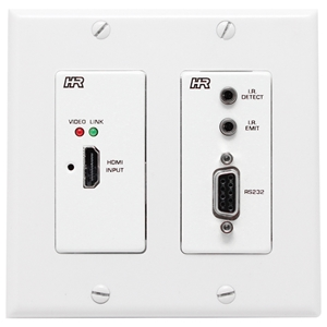 Hall Research: HDMI+RS232+IR+PoH UTP ( Dual Gang Wall Plate Sender)