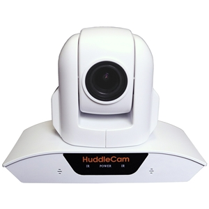 Huddlecam: PTZ Camera 3X Optical Zoom | Dual Microphone Array | USB 2.0 | 1920 x 1080p | 74 degree FOV Lens (White)