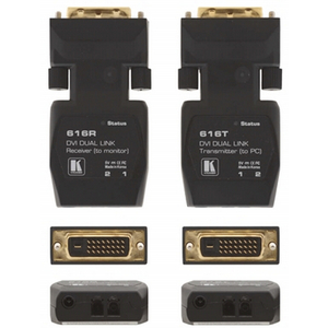 Kramer: 616R-T Dual Link Detachable DVI Optical Transmitter & Receiver