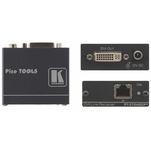 Kramer PT-572HDCP+: DVI Over single CAT-5/6 Receiver PoE
