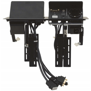 Kramer TBUS-202XL: Dual Table Mount Pop-Up  also requires TS-201GB
