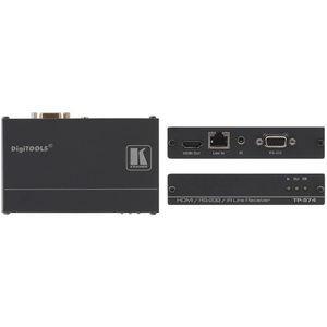 Kramer: TP-574 HDMI / RS-232 / Bi-Di IR over 1 x CAT-5/6 Receiver PC™