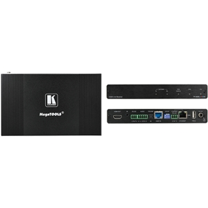 Kramer: TP-594RXR 4K HDR HDMI Receiver with Ethernet  RS-232  IR  ARC & Stereo Audio Routing over PoE Extended-Re...