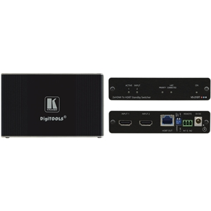 Kramer: VS-21DT 2x1 4K60 HDCP 2.2 HDMI Auto Switcher over HDBaseT