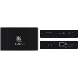 Kramer: VS-21DTP 2x1 4K60 HDCP 2.2 HDMI Auto Switcher c/w Bidirect PoE/HDBaseT
