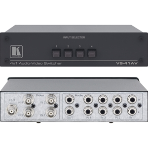 Kramer VS-41AV: 4x1 Composite and St-Audio Switcher