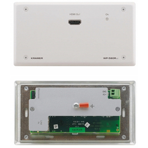 Kramer: WP-580RXR Active Wall Plate - HDMI over Extended Range HDBaseT Receiver