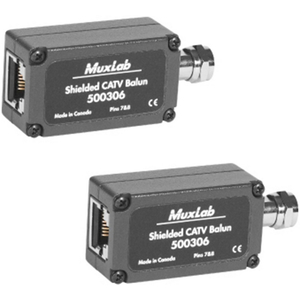 Muxlab Shielded CATV Balun - RETAIL 2 PACK
